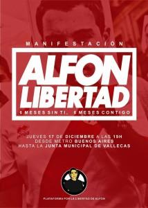 MANIFESTACIÓN #AlfonLibertad #6MesesSinTi #6MesesContigo