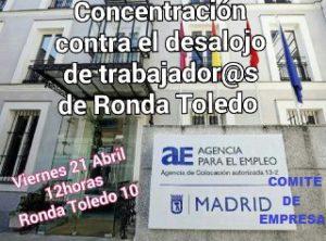 CONCENTRACIÓN 21 ABRIL A LAS 12 H. RONDA TOLEDO