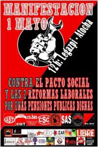 MANIFESTACIÓN 1 MAYO. 12h. Legazpi-Atocha
