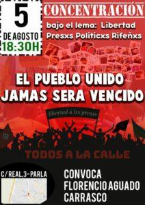 CONCENTRACIÓN: LIBERTAD PRESXS POLITICXS RIFEÑXS. PARLA