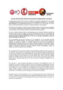 COMUNICADO TRABAJADORES Y TRABAJADORAS DEL SECTOR DE PREVENCIÓN DE INCENCIOS FORESTALES DE LA CAM