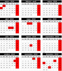 #calendariolaboral2019, APROBADO EL CALENDARIO LABORAL DE LA COMUNIDAD DE MADRID